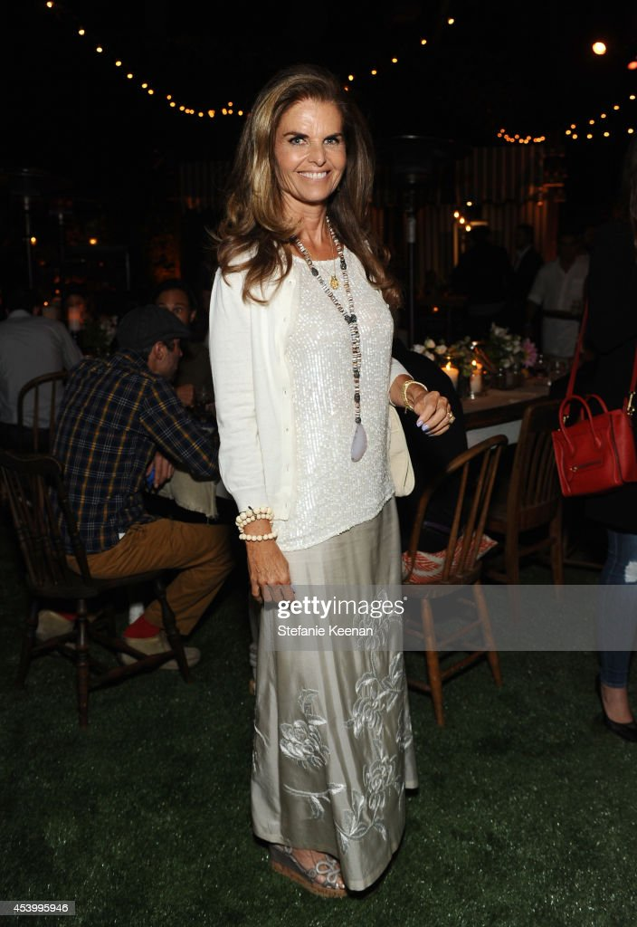 Journalist Maria Shriver attends GENETIC x Liberty Ross Launch on August 22 2014 in Beverly Hills California