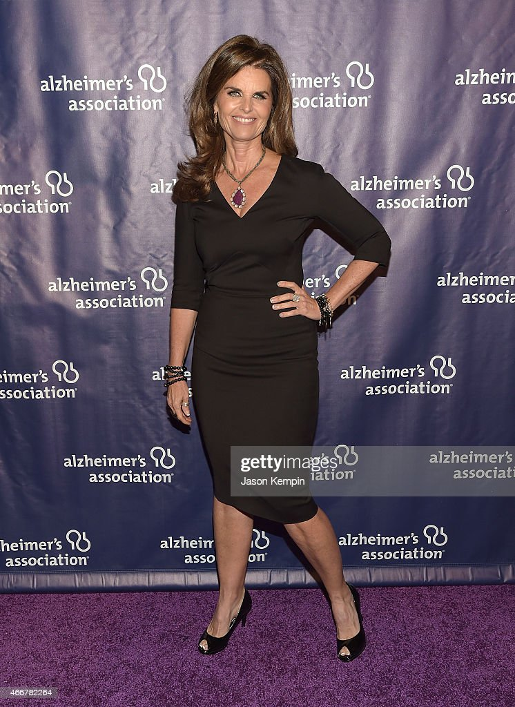 Journalist Maria Shriver attends the 23rd Annual 'A Night At Sardi's' To Benefit The Alzheimer's Association at The Beverly Hilton Hotel on March 18...