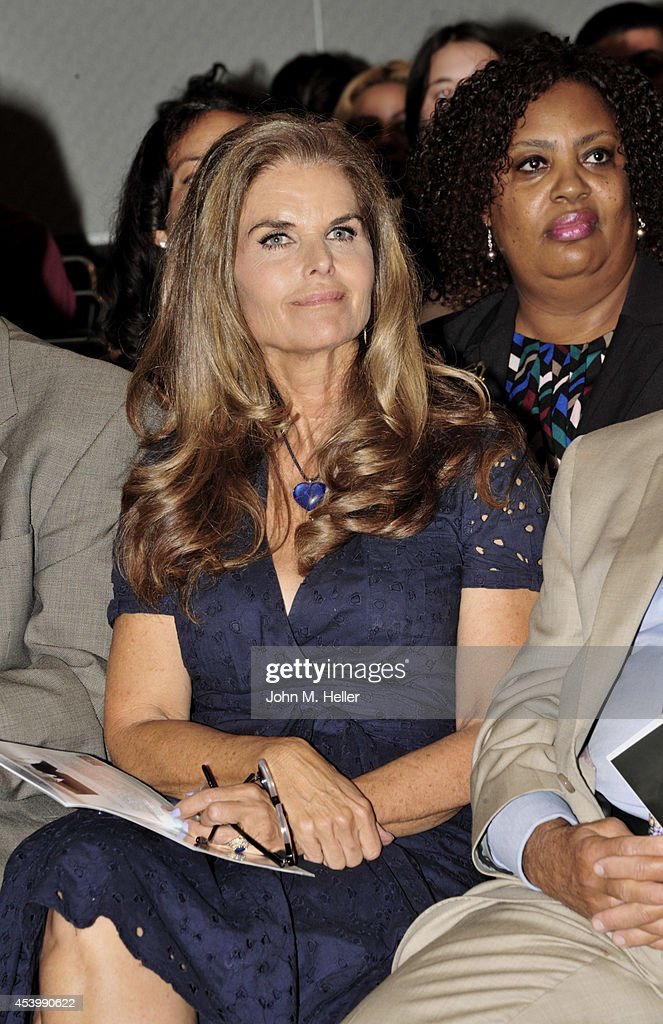 Journalist Maria Shriver attends the YWCA GLA 2014 Los Angeles Job Corps Commencement at the Los Angeles Convention Center on August 22 2014 in Los...