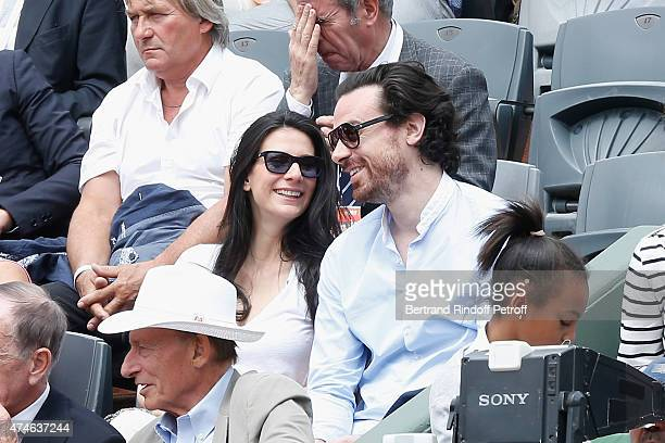 Journalist Marie Drucker and her Companion Chief of Staff of the Mayor of Paris Anne Hidalgo Mathias Vicherat attend the 2015 Roland Garros French...