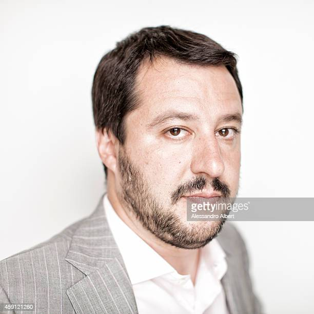 Journalist Matteo Salvini is photographed for GQ Italy on May 30 2014 in Turin Italy