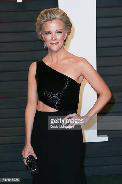 Journalist Megyn Kelly arrives at the 2016 Vanity Fair Oscar Party Hosted by Graydon Carter at the Wallis Annenberg Center for the Performing Arts on...