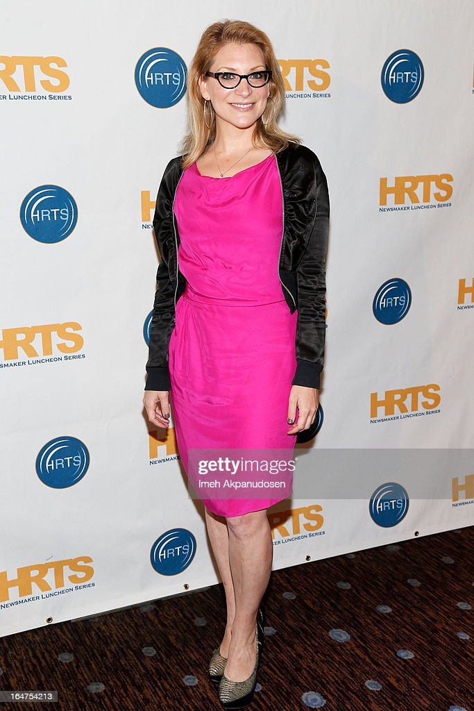 Journalist Melissa Grego attends the HRTS 'Non-Scripted Hitmakers' Luncheon Panel at The Beverly Hilton Hotel on March 27, 2013 in Beverly Hills, California.