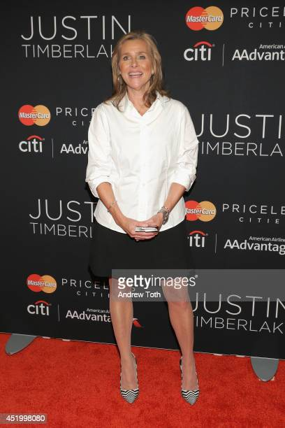 Journalist Meredith Vieira attends Justin Timberlake's special performance at Hammerstein Ballroom on July 10 2014 in New York City