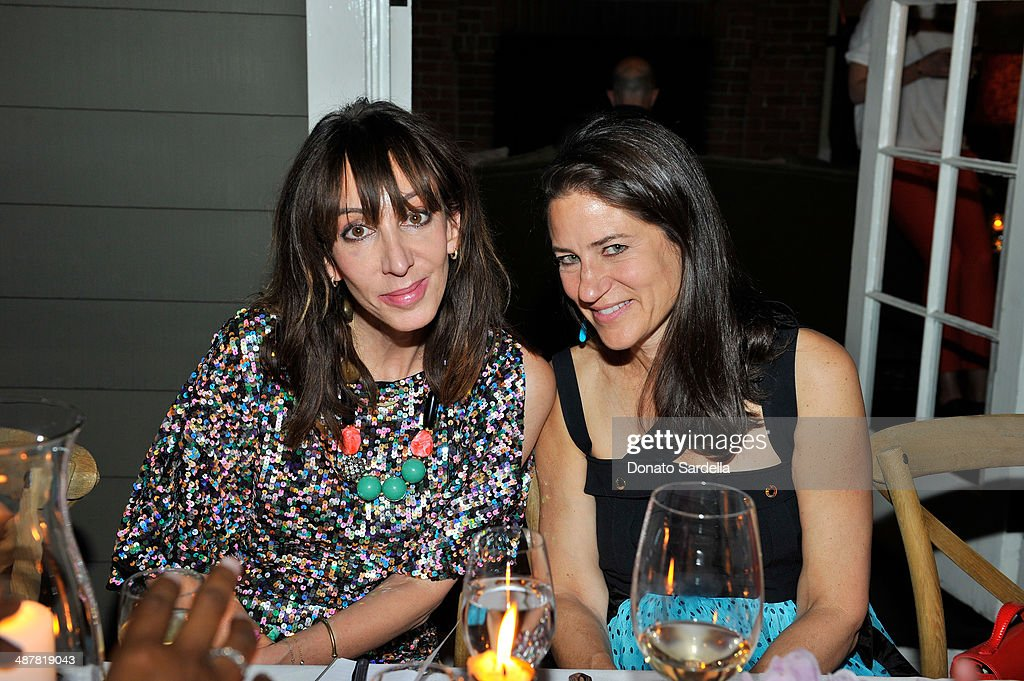Journalist Merle Ginsberg and actress Katherine Ross attends A private dinner In honor of Fausto Puglisi of Emanuel Ungaro hosted by Barneys New York at Chateau Marmont on May 1, 2014 in Los Angeles, California.