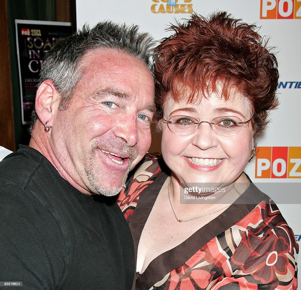 Journalist Michael Fairman (L) and actress Patrika Darbo attend the 'Soaps In The City' fundraiser at the East West Lounge on October 16, 2008 in West Hollywood, California.