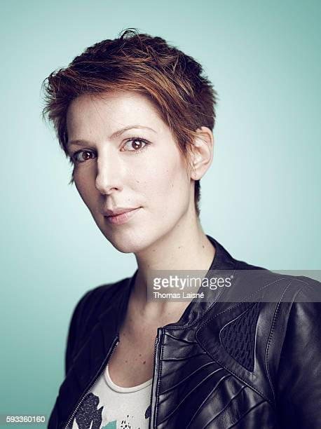 Journalist Natacha Polony is photographed for Self Assignment on January 6 2012 in Paris France