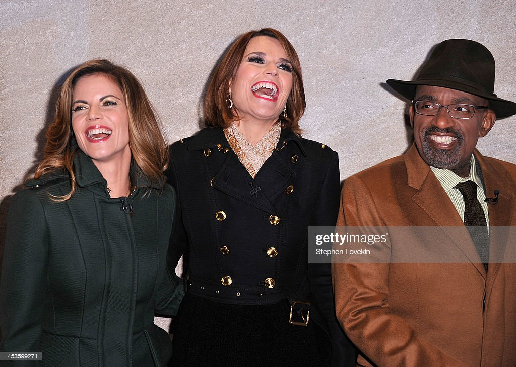 Journalist Natalie Morales, Journalist Savannah Guthrie, TV Personality Al Roker arrive during 81st Annual Rockefeller Center Christmas Tree Lighting Ceremony at Rockefeller Center on December 4, 2013 in New York City.