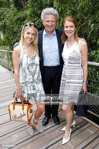 Journalist Nelson Monfort standing between his wife Dominique and their daughter Victoria attend Day Seven of the 2016 French Tennis Open at Roland...