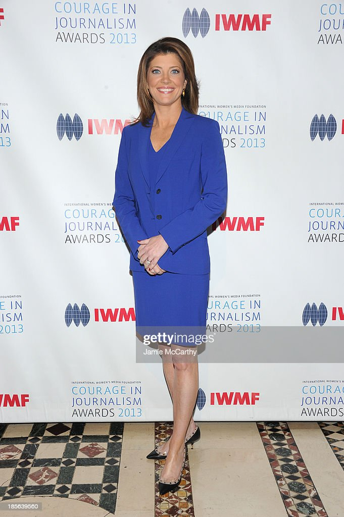 Journalist Norah O'Donnell attends the International Women's Media Foundation's 2013 Courage In Journalism And Lifetime Achievement Awards at Cipriani 42nd Street on October 23, 2013 in New York City.
