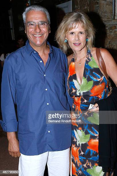 Journalist Norbert Balit and his wife Journalist Laurence Piquet attend the 'Madame Foresti' show of Humorist Florence Foresti during the 31th...