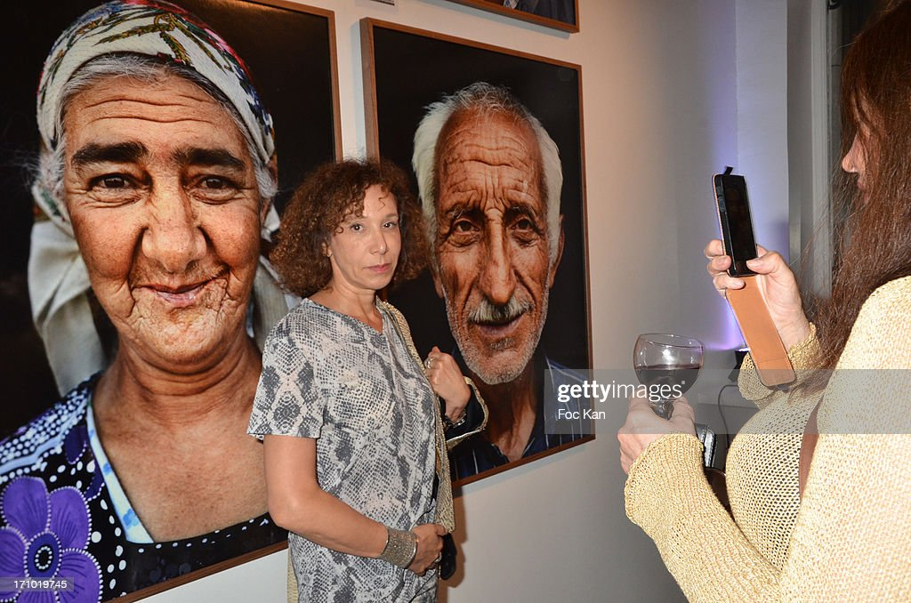 Journalist Olivia Portaud attends the 'Five Roads Back Home' Philipp Rathmer Photo Exhibition Preview at Galerie Joseph on June 20, 2013 in Paris, France.