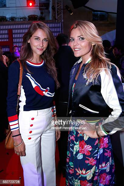 Journalist Ophelie Meunier and actress Justine Fraioli attend Tommy Hilfiger Hosts Tommy X Nadal Party Cocktail on May 18 2016 in Paris