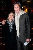 Journalist Patrick de Carolis and his wife Carol Ann attend the Concert of 'Chico The Gypsies' with 50 gypsy guitars at L'Olympia on April 14 2014 in...