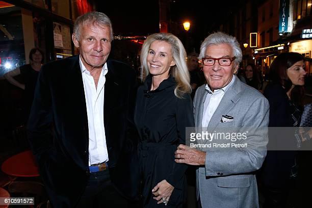 Journalist Patrick Poivre d'Arvor JeanDaniel Lorieux and his companion Laura Restelli attend the 'Trophees du Bien Etre' by Beautysane 2nd Award...