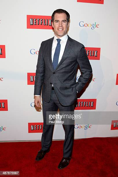 Journalist Peter Alexander walks the red carpet at Google/Netflix White House Correspondent's Weekend Party at United States Institute of Peace on...