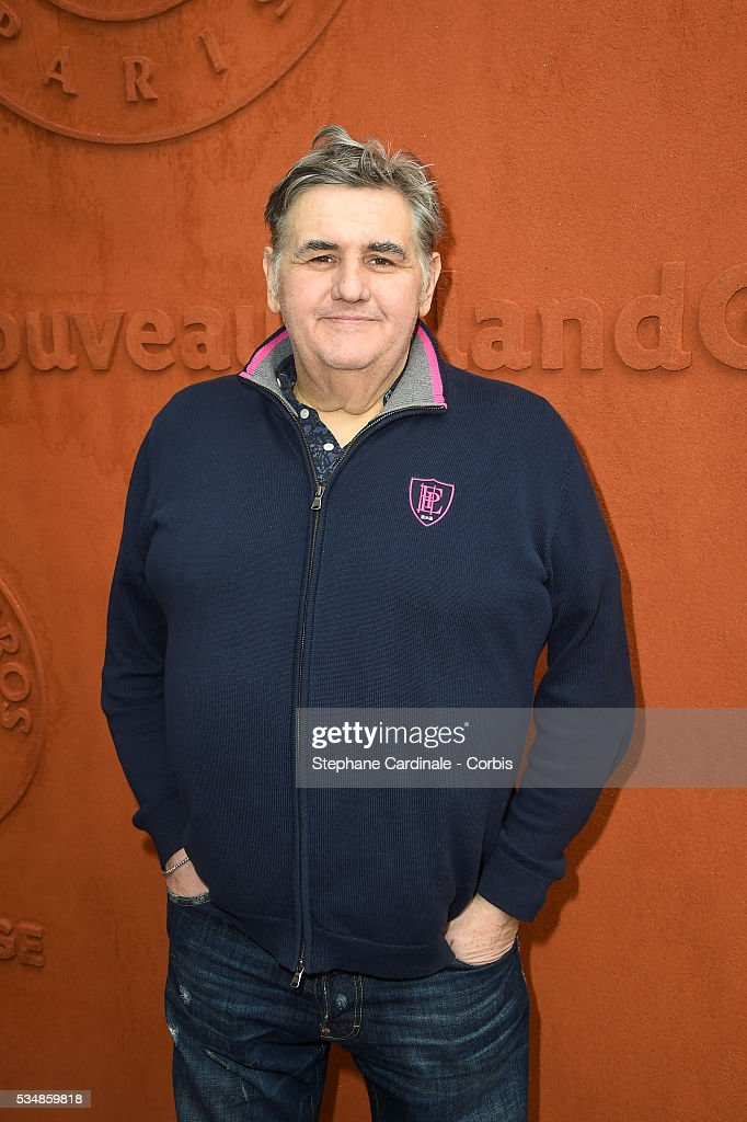 Journalist Pierre Menes attends day seven of the 2016 French Open at Roland Garros on May 28, 2016 in Paris, France.
