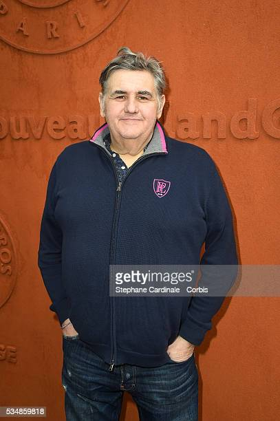 Journalist Pierre Menes attends day seven of the 2016 French Open at Roland Garros on May 28 2016 in Paris France