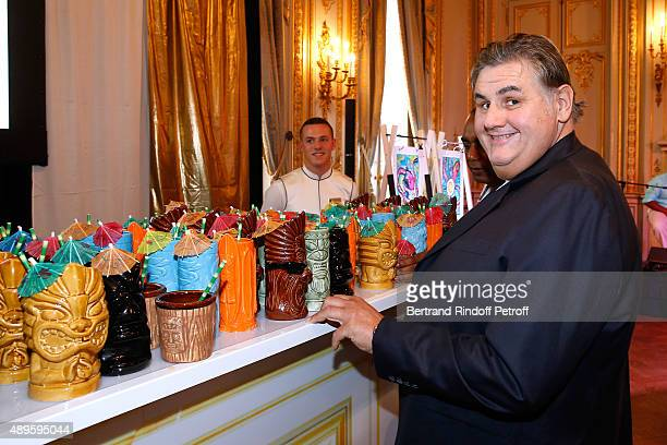 Journalist Pierre Menes attends 'ShangriLa Hotels and Resorts' presents its new Hotel in Mauritius 'Le Touessrok Resort and Spa' Held at Paris...