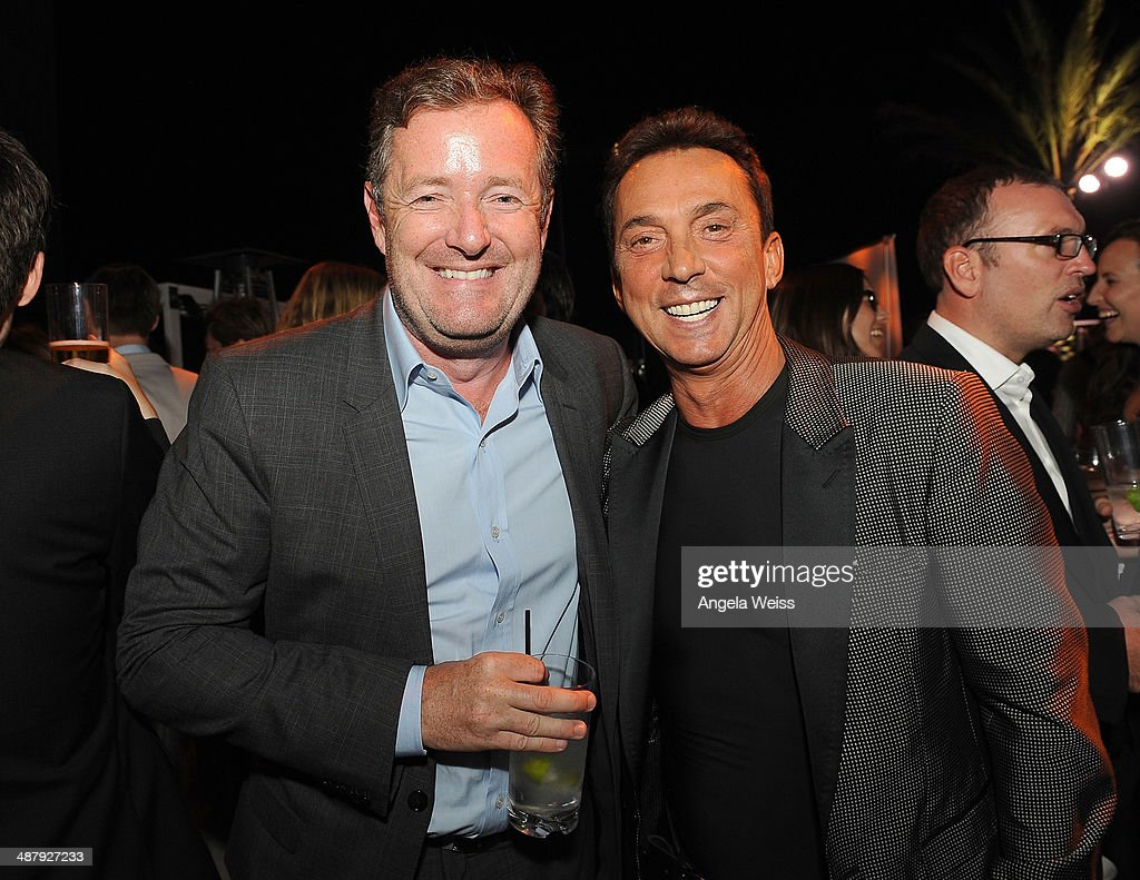 Journalist <a gi-track='captionPersonalityLinkClicked' href=/galleries/search?phrase=Piers+Morgan&family=editorial&specificpeople=216509 ng-click='$event.stopPropagation()'>Piers Morgan</a> and choreographer <a gi-track='captionPersonalityLinkClicked' href=/galleries/search?phrase=Bruno+Tonioli&family=editorial&specificpeople=742704 ng-click='$event.stopPropagation()'>Bruno Tonioli</a> attended the Jaguar and BritWeek Event: A Villainous Affair at The London West Hollywood on May 2, 2014 in Los Angeles, California. A signature BritWeek event, the rooftop reception featured the new British villain in town, the 2015 F-TYPE Coupe.