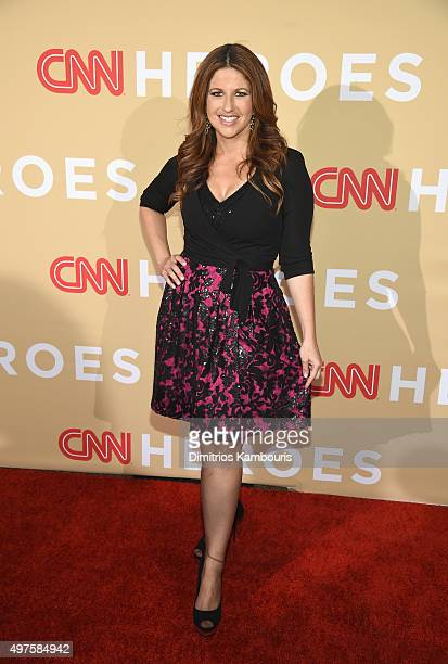 Journalist Rachel Nichols attends CNN Heroes 2015 Red Carpet Arrivals at American Museum of Natural History on November 17 2015 in New York City...