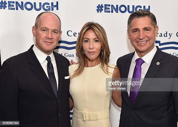 Journalist Rich Eisen Suzy Shuster and President Brady Campaign to Prevent Gun Violence Dan Gross attend the 2016 Los Angeles Brady Bear Awards Gala...