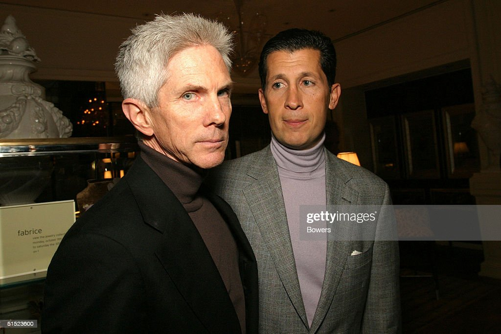 Journalist Richard Buckley and style editor Stefano Tonchi at the book launch party for 'Tom Ford:Ten Years' at Bergdorf Goodman October 20, 2004 in New York City. (Photo by Bowers/Getty Images).