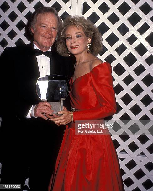 TV journalist Roone Arledge and TV journalist Barbara Walters attend the Sixth Annual Television Academy Hall of Fame Induction Ceremony on January 7...