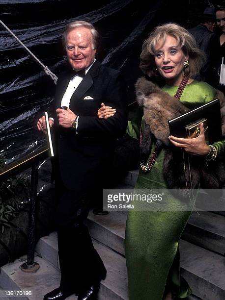 TV journalist Roone Arledge and TV journalist Barbara Walters attend the New York Public Library's 10th Annual Literary Lions Dinner on November 8...
