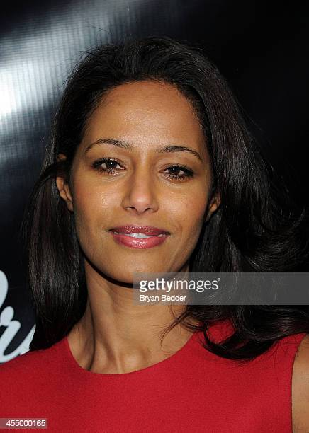Journalist Rula Jebreal attends Artists for Peace and Justice NYC Holiday Benefit Presented by Bovet 1822 at UpDown on December 10 2013 in New York...