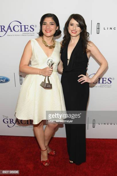 Journalist Rym Momtaz and Xana O'Neill attend the 42nd Annual Gracie Awards at the Beverly Wilshire Hotel on June 6 2017 in Beverly Hills California