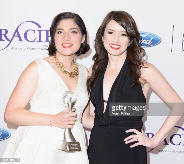 Journalist Rym Momtaz and Xana O'Neill attend the 42nd Annual Gracie Awards Gala hosted by The Alliance for Women in Media at the Beverly Wilshire...