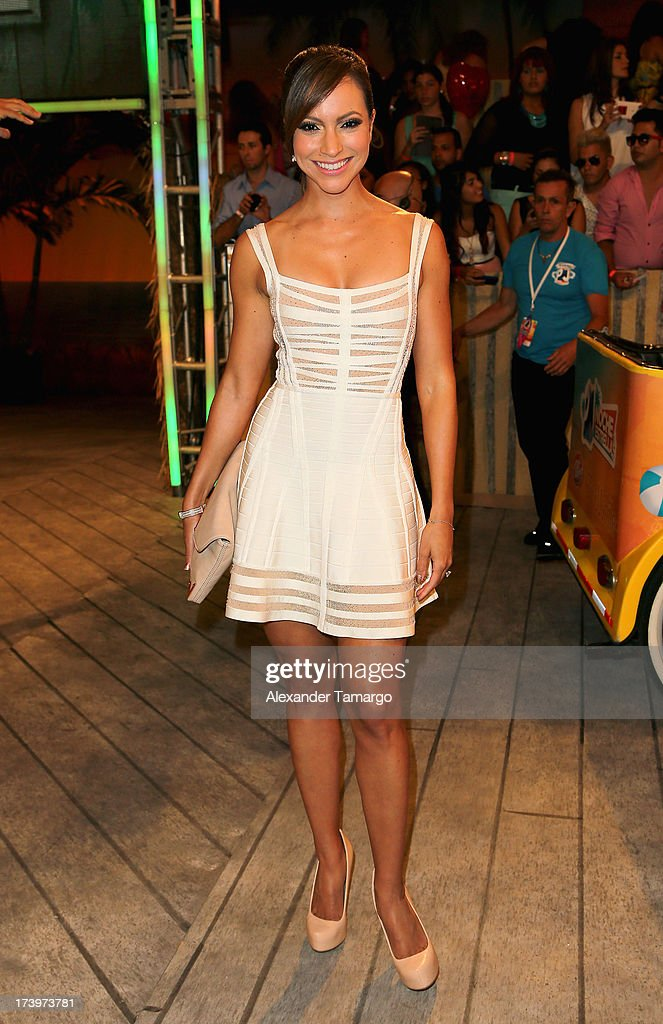 Journalist Satcha Pretto attends the Premios Juventud 2013 at Bank United Center on July 18, 2013 in Miami, Florida.