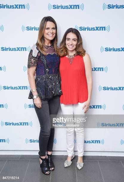 Journalist Savannah Guthrie and Allie Oppenheim visit SiriusXM Studios on September 14 2017 in New York City