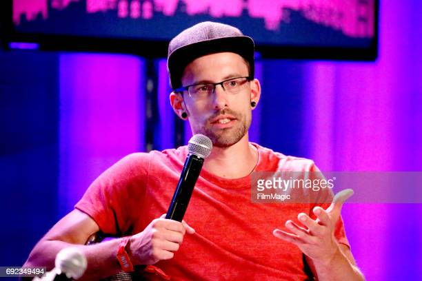 Journalist Shane Bauer speaks onstage at the Larkin Comedy Club during Colossal Clusterfest at Civic Center Plaza and The Bill Graham Civic...