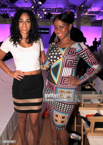 Journalist Sharon Carpenter and hair stylist Lavette Slater attend the FrontRow by Shateria MoragneEl at the STYLE360 Fashion Pavilion in Chelsea on...