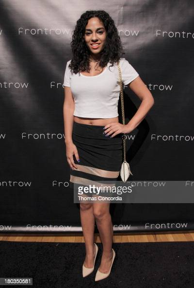 Journalist Sharon Carpenter attends Front Row By Shateria MoragneEl at the STYLE360 Fashion Pavilion in Chelsea on September 11 2013 in New York City
