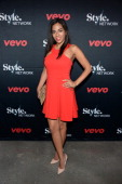 Journalist Sharon Carpenter attends the VEVO and Styled To Rock Celebration Hosted by Actress Model and Styled to Rock Mentor Erin Wasson with...