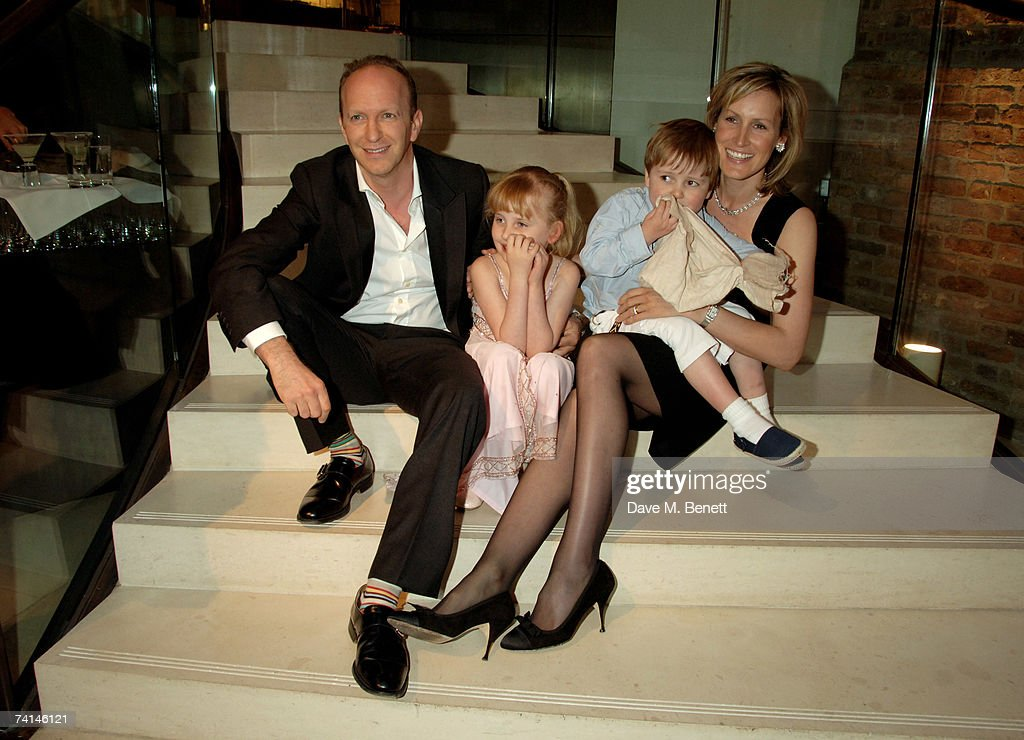 Journalist Simon Sebag Montefiore and author Santa Montefiore with their children attend the book launch party of The Young Stalin: The Adventurous Early Life Of The Dictator 1878-1917 by Simon Sebag Montefiore, at Asprey May 14, 2007 in London, England.