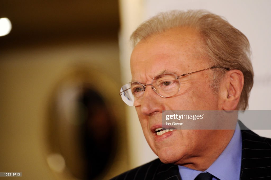 Journalist Sir David Frost attends the South Bank Sky Arts Awards at The Dorchester on January 25, 2011 in London, England.