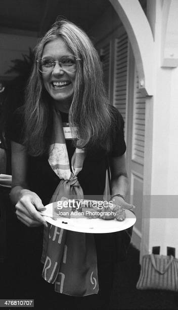 Journalist social and political activist leader and media spokeswoman for the Women's Liberation Movement Gloria Steinem speaks at an ERA event...