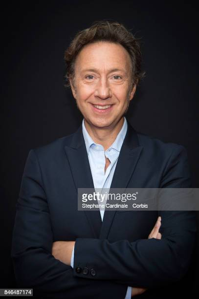 Journalist Stephane Bern attends the RTLRTL2Fun Radio Press Conference to Announce Their TV Schedule for 2017/2018 at Cinema Elysee Biarritz on...