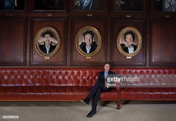 Journalist Stephane Bern is photographed for Gala on November 8 2014 in Paris France