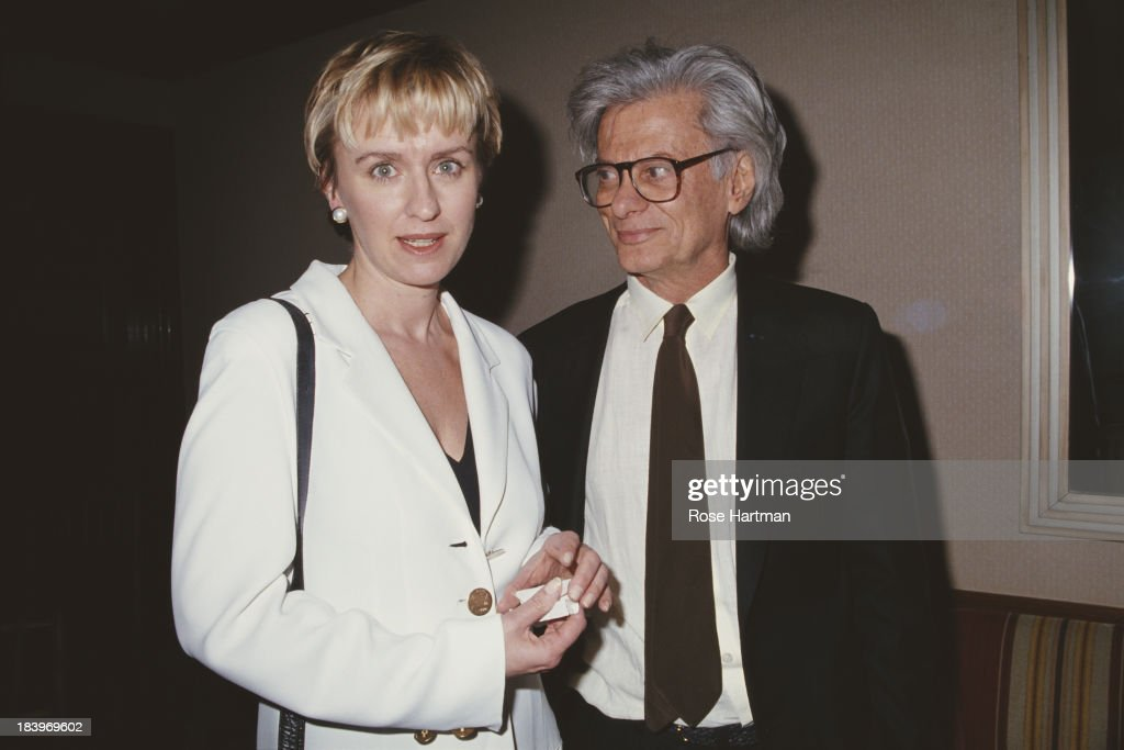 Journalist talkshow host and author Tina Brown and American fashion and portrait photographer Richard Avedon at a Truman Capote tribute 1994