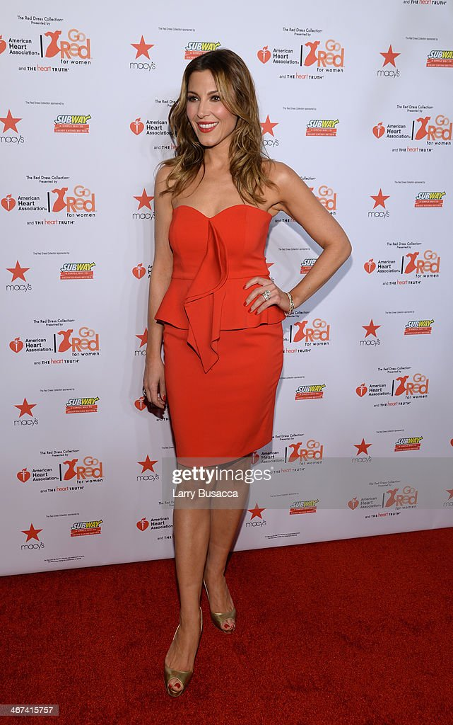 Journalist Thea Andrews attends Go Red For Women The Heart Truth Red Dress Collection 2014 Show Made Possible By Macy's And SUBWAY Restaurants at The Theatre at Lincoln Center on February 6, 2014 in New York City.