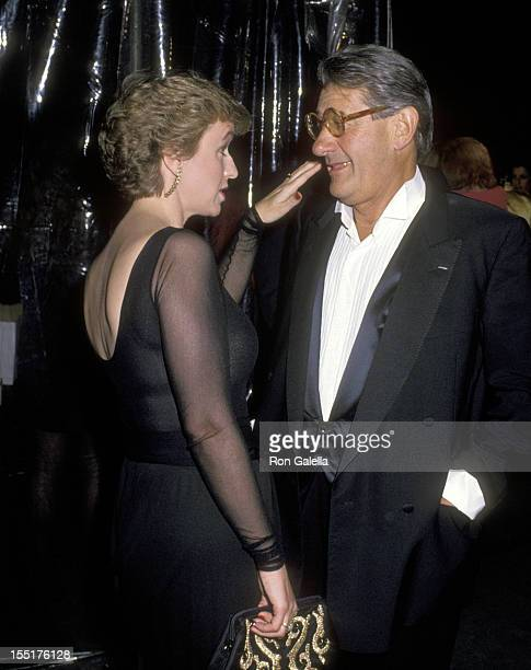 Journalist Tina Brown and Helmut Newton attend Just Say Yes Benefit for Pheonix House on March 22 1990 at Culver Studios in Culver City California