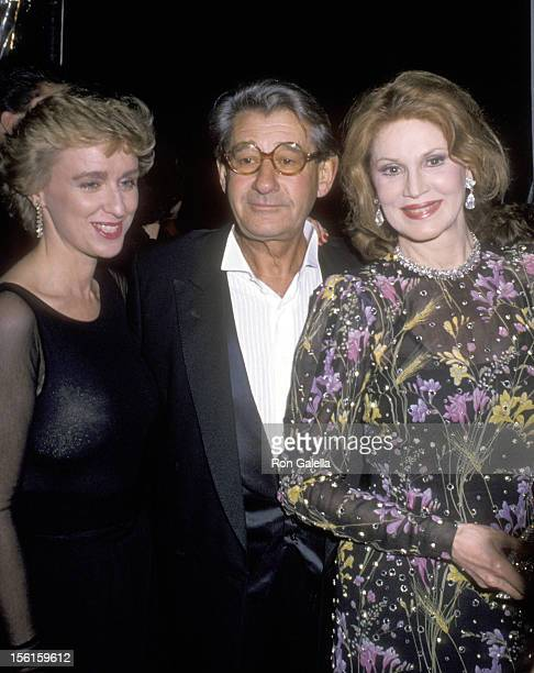 Journalist Tina Brown Helmut Newton and guest attend Just Say Yes Benefit for Pheonix House on March 22 1990 at Culver Studios in Culver City...