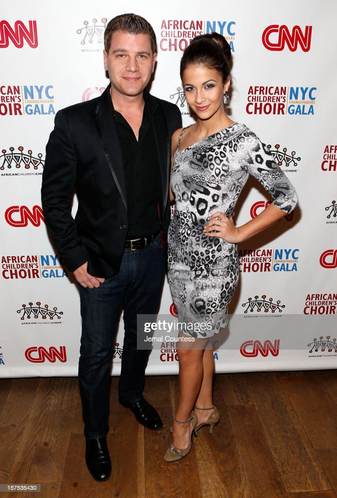 Journalist Tom Murro and former Miss New York Kaitlin Monte attend the 4th Annual African Children's Choir Fundraising Gala at City Winery on December 3, 2012 in New York City.