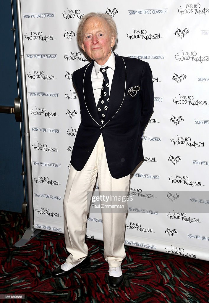Journalist Tom Wolfe attends the 'For No Good Reason' screening at AMC Loews 19th Street Theater on April 22, 2014 in New York City.