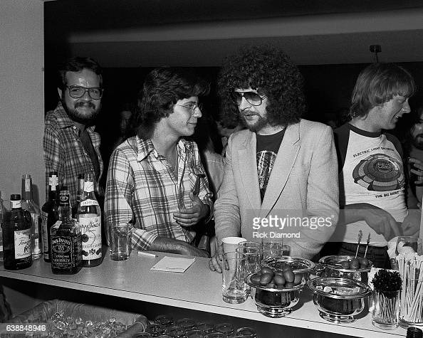 Journalist Tony Paris and Jeff Lynne of ELO attend press reception at the Peachtree Plaza in Atlanta Georgia July 06 1978